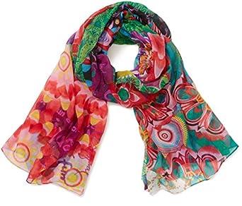 Desigual - paulina - foulard - imprimé - femme - rouge (maracuya) - taille unique