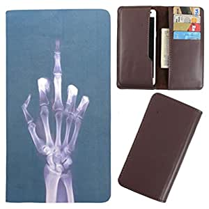 DooDa - For Karbonn S29 Elite PU Leather Designer Fashionable Fancy Case Cover Pouch With Card & Cash Slots & Smooth Inner Velvet