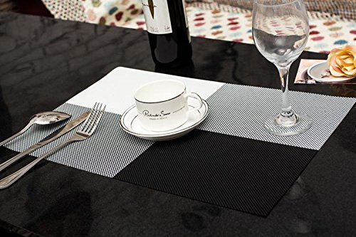 sicohome high quality rectangle pvc dining room placemats for table