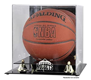 Mounted Memories Denver Nuggets Golden Classic Team Logo Basketball Display Case by Mounted Memories