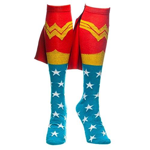 Wonder Woman Ufficiale delle Signore della Donna del Ginocchio alta Caped Calze - Taglia Unica
