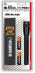 Maglite SP+P01H Mini PRO+ LED 2Cell AA Flashlight, Black
