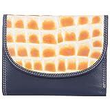 Leder Mart 2401 Women's Designer Leather Wallet (Black, FL014)