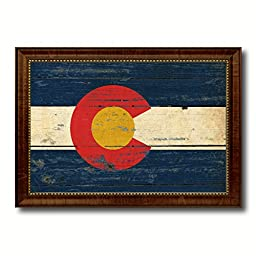Colorado State Vintage Flag Art Collection Western Shabby Cottage Chic Interior Design Office Wall Home Decor Gift Ideas, 27\