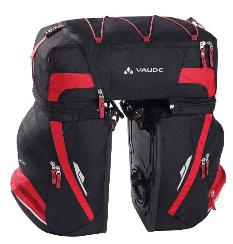 VAUDE Radtasche Karakorum, black/red,