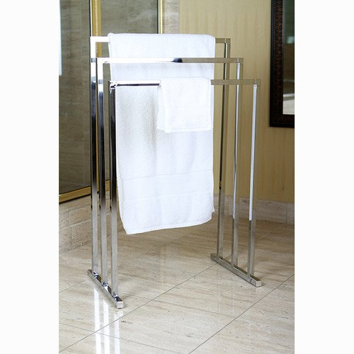Brass Edenscape Free Standing Towel Rack (Polished Chrome) (Floor Standing Towel Rack compare prices)