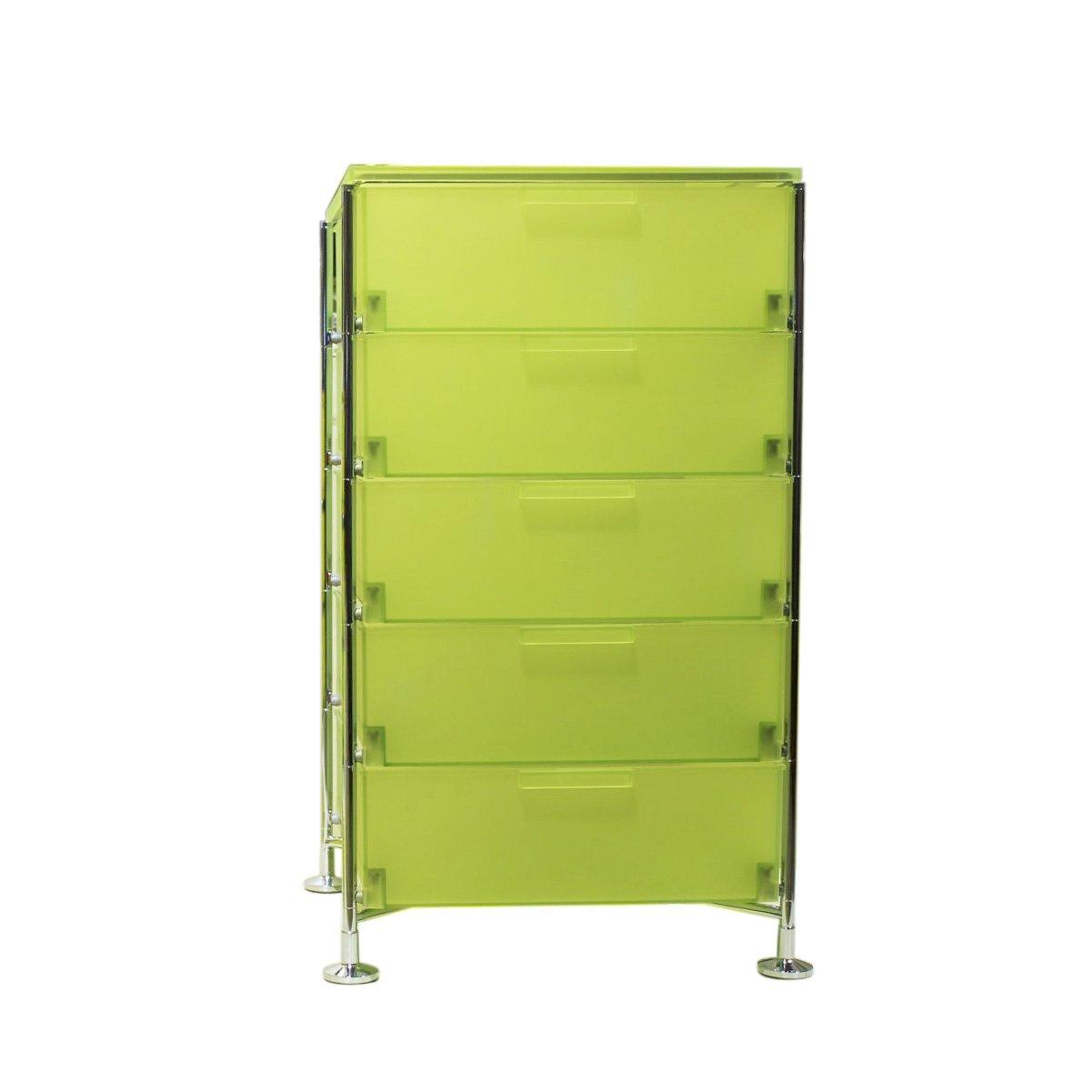 Kartell 2035L3 Container Mobil, 5 Schubladen, zitronengelb