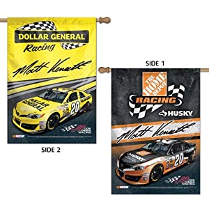 NASCAR #20 Matt Kenseth Flag 2 Sided Vertical Banner 28x40 Dollar General car Home... by WinCraft