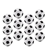 LeeSky 36mm 12 Pack Table Soccer Foosballs Replacements - Black and White...