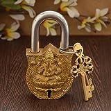 Unravel India Brass Ganesha Lock
