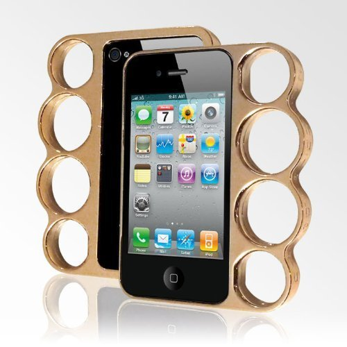 LolliMobile Knuckle Case for iPhone4/4S – Gold/Copper