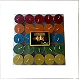 Devinez Smokeless Multi Colour Tealight Candles, (Pack Of 50), 4.5 Hour Buring