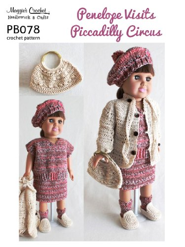 Crochet Pattern Penelope Visits Picadilly Circus PB078-R