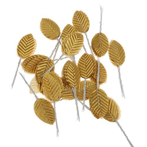200pcs-artificial-silk-rose-leaves-bouquets-wedding-buttonhole-diy-11cm-gold-11cm