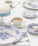 """Talking Tables Tea Party Porcelain Plates (8 Pack), 11"""", Blue & White"""