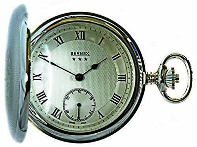 Bernex Pocket Watch BN22502 Sterling Silver Full Hunter