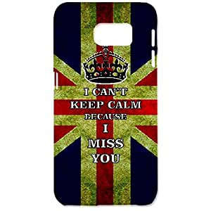 Skin4gadgets I CAN'T KEEP CALM BECAUSE I MISS YOU - Colour - UK Flag Phone Designer CASE for SAMSUNG GALAXY S6 (G920I)