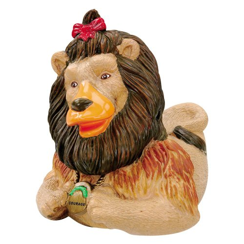 CelebriDucks Wizard of Oz Cowardly Lion RUBBER DUCK Bath Toy