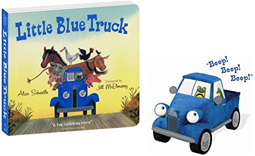 "Little Blue Truck Toy Trucks 8.5"" & Hardcover Book with"