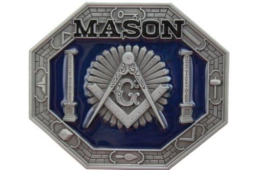 Hogar Mens Zinic Alloy Belt Buckle Mason Buckles Color Blue
