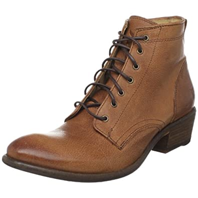 FRYE Women's Carson Lace Up Boot,Cognac,6 M US