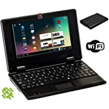 E-passion (Black) Mini Laptop 7 Inch Android 4.1 with Installed Wifi to Access Internet (Works with Wifi or Ethernet) and a Built in Camera