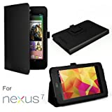 Exact Leather Folio Case for Google Nexus 7 Android Tablet by Asus With 3-in-1 Built-in Stand (Automatically Wakes and Puts the Nexus 7 to Sleep)