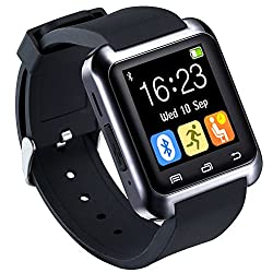 HopCentury Bluetooth Smart Watch for Android Cellphones with Calls Notifier Sleep Monitor Pedometer Stopwatch Anti Lost Drink/Rest Reminder, Support iPhone with Partial Functions from Hopcentury Electronic Co., LTD