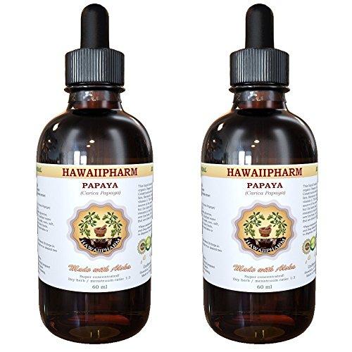 Papaya Liquid Extract, Organic Papaya (Carica papaya) Tincture Supplement 2x2 oz (Organic Papaya Hair Extract compare prices)
