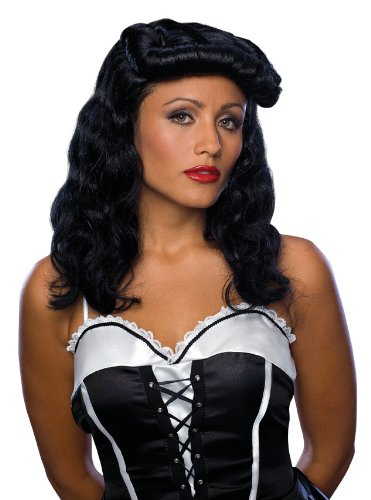 Rubie's Costume Cigar Girl Curly Wig, Black, One Size - 1