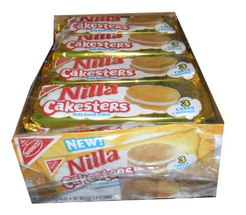 Nilla Cakesters Soft Snack Cakes Twelve 2.65 Ounce Packs per box