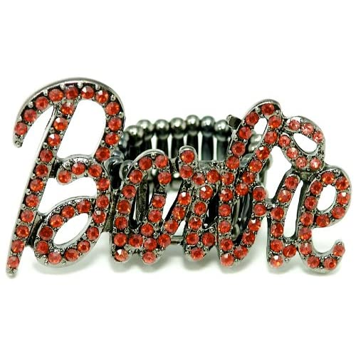 Barbie Iced Out Stretch Band Ring Red