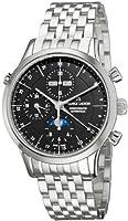 Maurice Lacroix Men's LC6078-SS00233E Les Classiqu Black Dial Automatic Bracelet Watch by Maurice Lacroix
