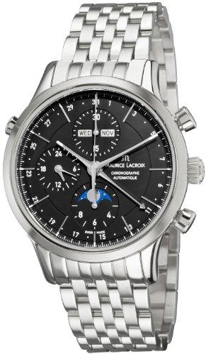 Maurice Lacroix Men's LC6078-SS00233E Les Classiqu Black Dial Automatic Bracelet Watch