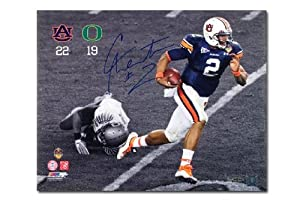 Cam Newton Autographed Auburn Tigers Scramble 16x20 Photo (Signed in Blue) - Unframed... by Upper+Deck