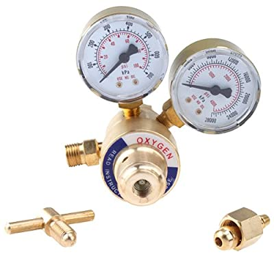IMAGE® Welding Gas Welder Oxygen Regulator Gauges Oxy for Victor Torch Cutting Kits CGA 540