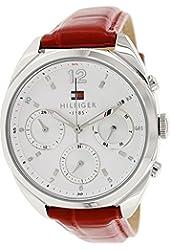 Tommy Hilfiger Women's 1781483 Red Leather Analog Quartz Watch