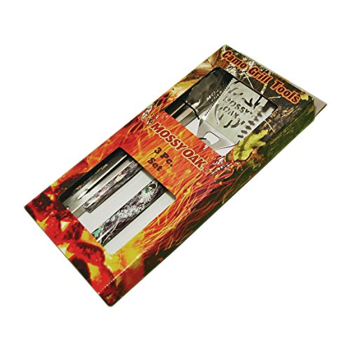 Havercamp Mossy Oak Camo Grill Tools Spatula Tongs Fork 3pc Set - 1