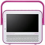 TWINBIRDポータブル防水DVDプレーヤー(ワンセグチューナー搭載) DVD ZABADY ピンク VD-J719P