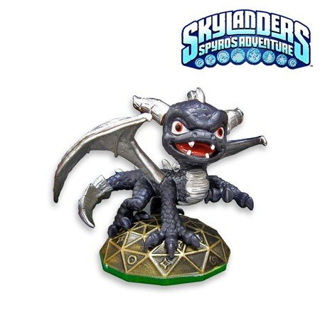 Skylanders Spyros Adventure LOOSE Mini Figure DARK Spyro SILVER Wings Includes Card Online Code