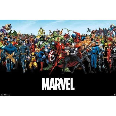 Marvel Comics Universe Poster a suit of vintage leaf shape necklace and earrings for women