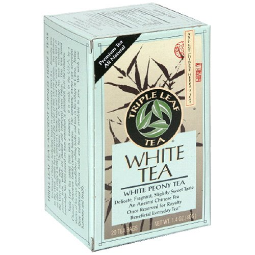 Buy Triple Leaf Tea, Tea Bags, White Peony Tea, 1.4-Ounce Bags, 20-Count Boxes (Pack of 6) (Triple Leaf, Health & Personal Care, Products, Food & Snacks, Beverages, Tea, White Teas)