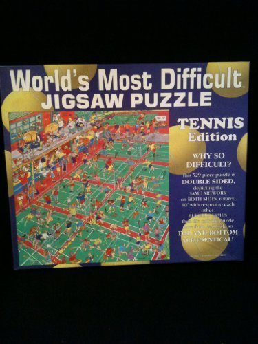 World's Most Difficult Jigsaw Puzzle- Tennis Edition (529 Pieces) by World's Most Difficult JIGSAW PAZZLE jetzt bestellen