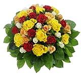 Bunter Rosenstrauß mit 36 Rosen