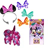 Disney Minnie Mouse Dream Party Decorations Kit Including Door Banner, Hanging Centerpiece and Party Ears