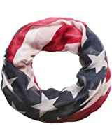 styleBREAKER USA Flaggen Design Loop Schlauchschal, Stars and Stripes, Unisex 01014034
