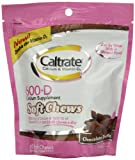 Caltrate Calcium & Vitamin D Supplement, 600+D, Chocolate Truffle, 60 Soft Chews