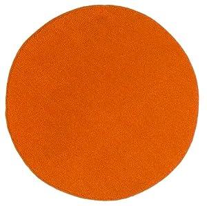 Ikea saxan round bath bathroom mat rug orange for Ikea small round rugs