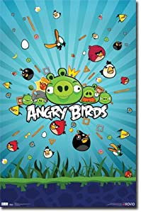 Angry Birds Group Video Game Poster Print - 22x34 Poster Print, 22x34