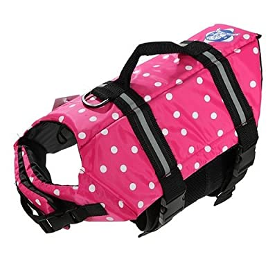 Assorted Color Choice Pet Dog Saver Life Vest Coat Flotation Float Life Jacket Aid Buoyancy Medium